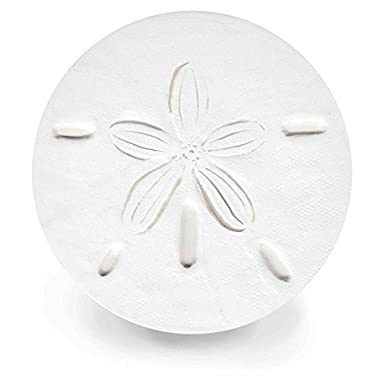 Stoneware Drink Coasters - Sand Dollar - Set of 4