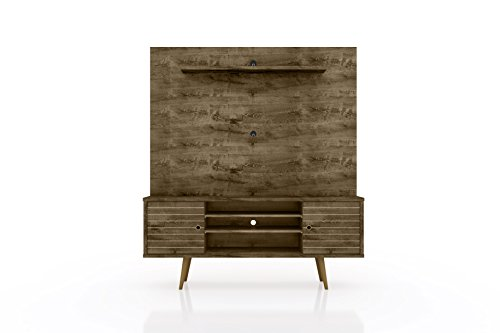Manhattan Comfort 213BMC9 Liberty Complete Living Room Entertainment Center and TV Stand Rustic Brown ()