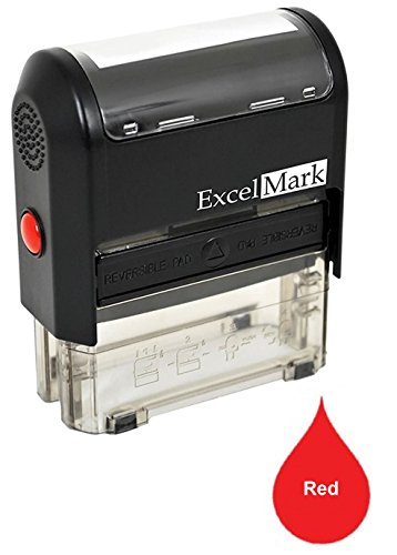 Custom Self Ink - One Line Custom Rubber Stamp (Red)