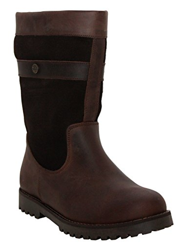 Cabotswood Womens Ladies Leather Mid Calf Brown Waterproof Horse Riding Yard Stable Country Boots UK Sizes 4-8 Brown