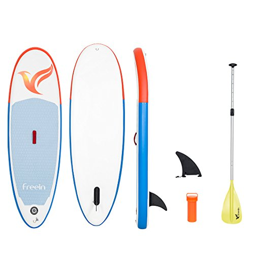 Freein Inflatable Stand Up Paddle Board, All Round 7'8 Long Inflatable SUP Board with Kid's Paddle (Without Hand Pump) by Freein