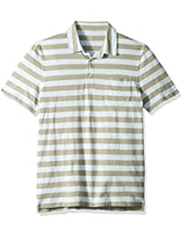 Men's Short-Sleeve Striped Polo Shirt
