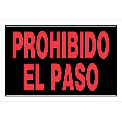 Amazon.com: Hillman 839968 prohibido el paso español cartel ...