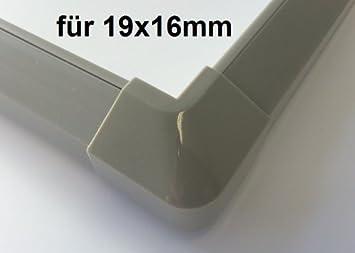 Farbe:weiss Auswahl netproshop Verbinder Au/ßenecke f/ür Kabelkanal 19x16mm Innenma/ß Kunststoff, Trapezf/örmig