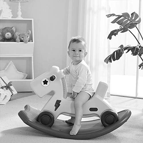 乗馬用ロッキングホース 子供のおもちゃ ロッキングチェア ロッキング 馬 ホーム プラスチック 木製 馬 2回使用 小さな木製の馬 最高のギフト 82*40*50cm ピンク