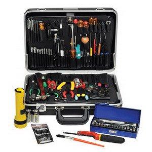 Tec-Tuff Master Electronic Tool Kit 121 Metric Tools Black