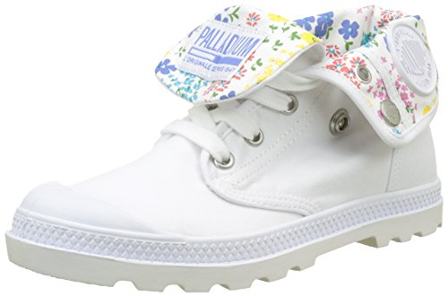 Mujer Blanco Altas Baggy Low White L68 para Palladium Star White LP Zapatillas xOZwqf