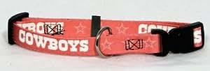Dallas Cowboys Pink X-Small Pet Dog Collar (X-Small)