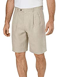 Men's Linen Pleated Shorts