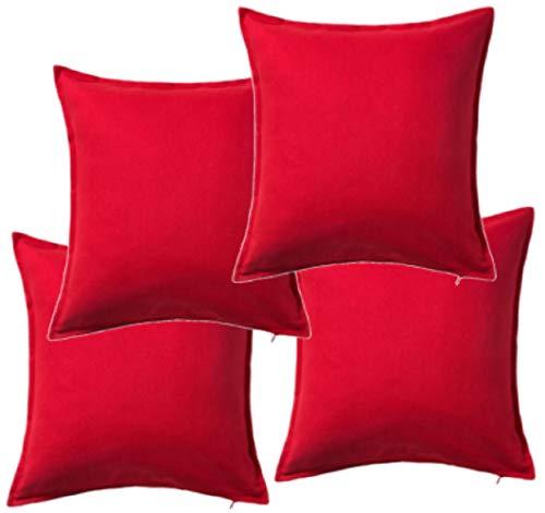 IKEA Gurli – Funda de cojín, rojo – 50 x 50 cm, Pack de 2