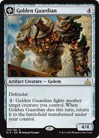 Guardiano Dorato //// Presidio Della Forgia doro Rivals of Ixalan Golden Guardian //// Gold-Forge Garrison Magic The Gathering