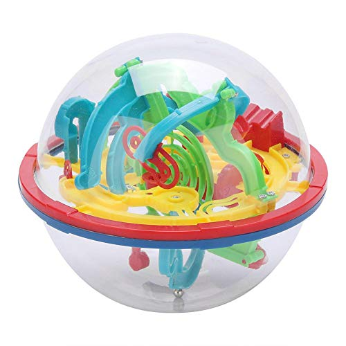 Zerodis Intellect 3D Maze Ball Puzzle Toys Labyrinth Spherical Toys Puzzle Game Toy Space Training Imagination Education Toy Independent Play 100 Challenging Barriers Gift for Children ()