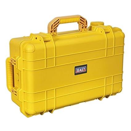 Sealey AP615Y - Caja de herramientas (con ruedas, resistente al agua), color