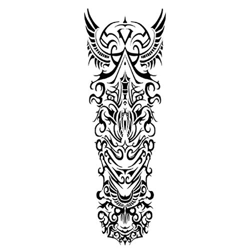 Temporary Tattoo Arm Sleeves Fake Slip on Arm Sunscreen Sleeves Tattoo Wedding Festival Body Make Up Han Shi - Body Mehndi