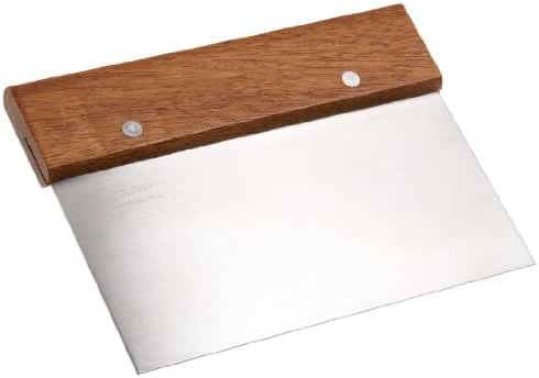 Ateco Bench Scraper with Wood Handle