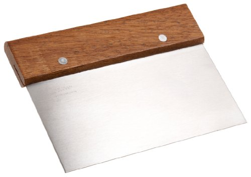 Ateco Bench Scraper with Wood Handle (Wood Handle Dough)