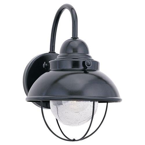 Sea Gull Lighting Black Outdoor Wall Light