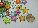 Mulberry Paper Flower Sunflower Mixed Color Artificial /Appliqué/scrapbooking/card Making/craft 2.5 Cm. 50 Pcs