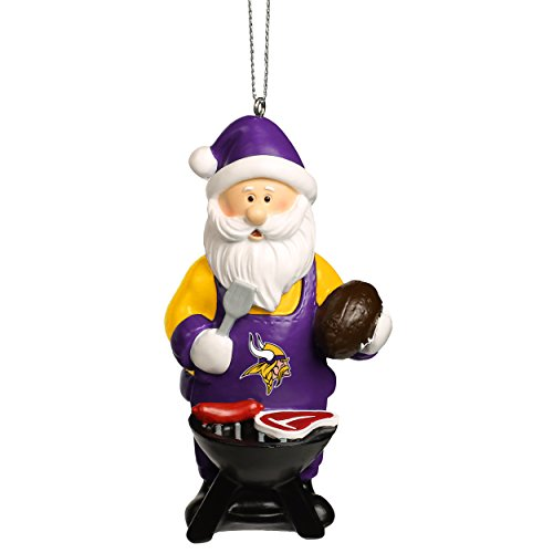 NFL Christmas Holiday Santa Grill Ornament-Minnesota Vikings