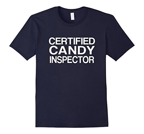 Costumes For Moms And Dads (Mens Candy Inspector Funny Mom or Dad Halloween Costume Small Navy)