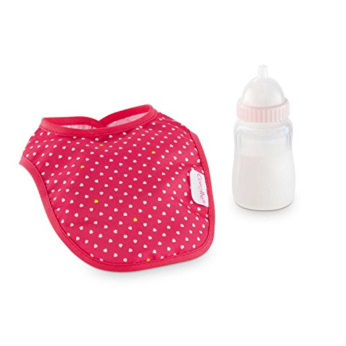 Corolle Mon Classique Cherry Feeding Bottle & Bib Set