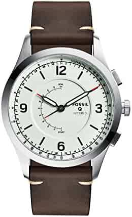Fossil Hybrid Smartwatch - Q Activist Brown Leather FTW1204