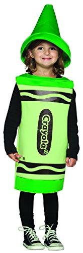 Rasta Imposta Crayola Toddler Costume, Green, 3-4T