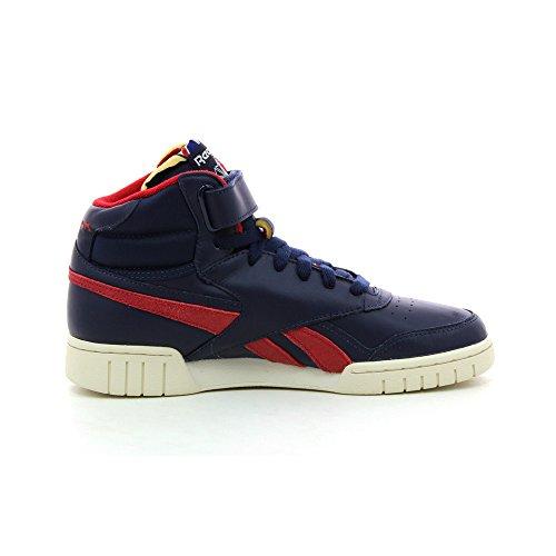 Reebok Exofit Plus Hi Vintage L, Herren Sneaker , Blau Navy / Red