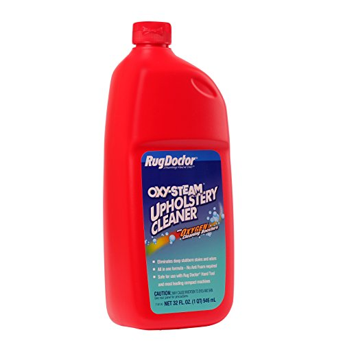 Rug Doctor Oxy-Steam Upholstery Cleaner Solution, Deep Cleans and Extracts Stains and Dirt from Upholstery and Soft Surfaces, 32 oz.