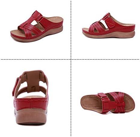 Damessandalen Wedge-sandalen Zachte onderkant Antislip sandalen Bruidsschoenen Geschikt voor thuiskantoor Reizen enz,Blue,40