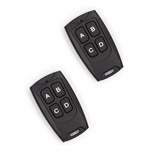 (2 Pack - Solidremote 433MHz Secure Rolling Code Remotes with FCC ID (TX-134) - Compatible with KIT-1 & KIT-2 )