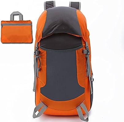 MRSLIU Bolsa De Viaje Ultraligero Packable Mochila para Mujeres Hombres, Ligero 35L Impermeable para Escalar Acampar Mochilero Ciclismo Bicicleta Viajar ...
