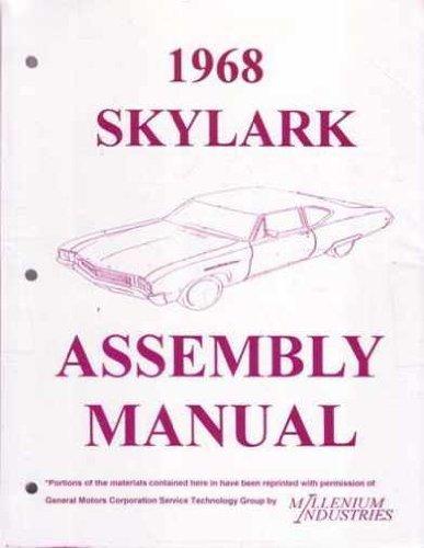 1968 BUICK SKYLARK FACTORY ASSEMBLY INSTRUCTION MANUAL Sportwagon GS, Custom, Special & Special Deluxe 68