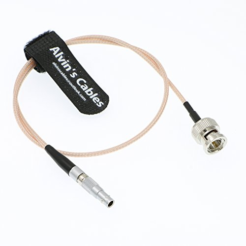 TIME CODE adapter cable for Red Epic Scarlet BNC plug to 4 pin Nor1438 Cable by Alvin's Cables