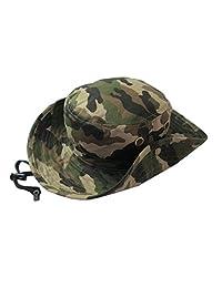 Unisex Girls and Boys Beach Sun Bucket Camouflage Modelling Hat Summer Beanie Caps