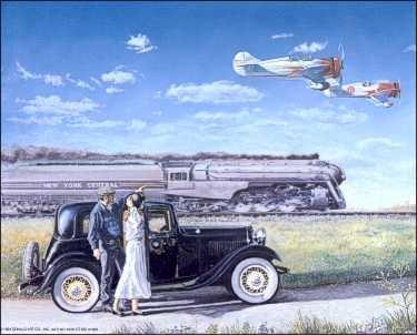 Plane,Train, Auto.. Paper Tole 3D Kit -