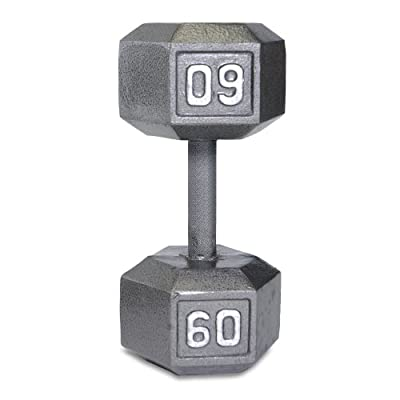 Cap Barbell Solid Hex Single Dumbbell by Cap Barbell