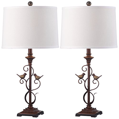 - Safavieh Lighting Collection Birdsong Oil-Rubbed Bronze 28-inch Table Lamp (Set of 2)