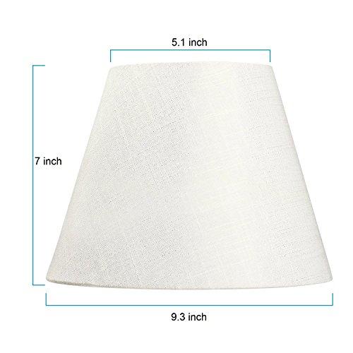 Lamp Shade IMISI Linen Fabric White Lamp Shade Small 5'' Top Diameter x 9'' Bottom Diameter x 7'' Tall (White) by IMISI (Image #2)