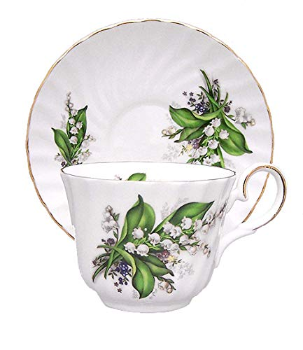 IMPERIAL PORCELAIN TEAWARE Lily of The Valley Cup and Saucer - Fine English Bone China - Anniversary Tea Set