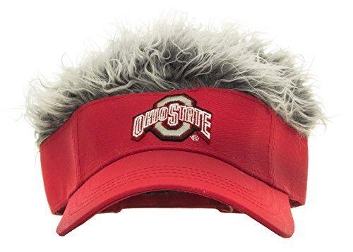 NCAA Ohio State Flair Hair Adjustable Visor With (Golf Visors With Hair)