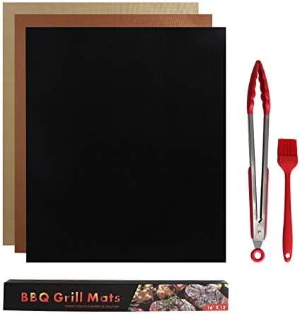 HKYMBM Parrilla Mat, Antiadherente cocinar Mat teflón Reutilizable Barbacoa Hornear Mat fácil de Limpiar la Barbacoa asa a Accesorios para el Gas, carbón de leña, Parrilla eléctrica