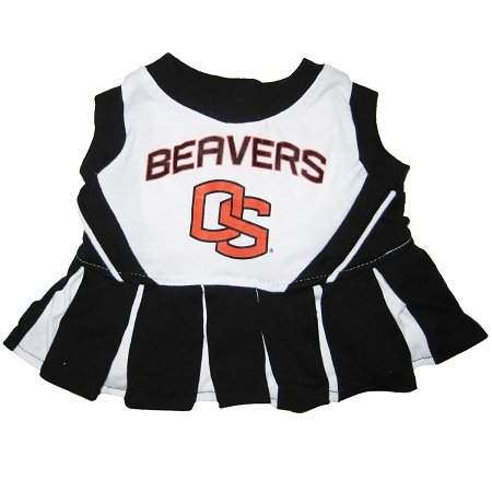 Oregon State Beavers Dog Cheer Leading Dress & Leash Set Size MD