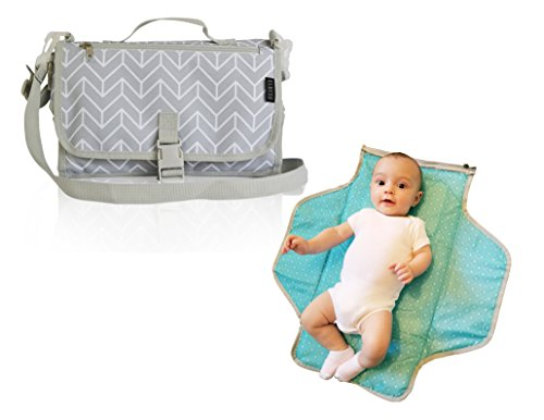 Portable Changing Station. Our Diaper Changing Pad is Perfect for On-The-Go Moms! Lots Of Storage and Easy to Carry. Bonus Messenger Shoulder Strap.
