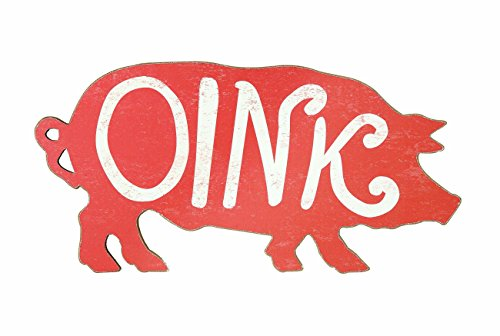 Creative Co Op Wood Oink Decor