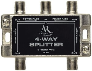 Acoustic Research AP232 High Performance video 4-way splitter (Discontinued by Manufacturer)