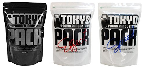 3 Pack Tokyo Powder Industries Climbing Chalk, Bundle Pack of Super Fine TPI Black, Effect, and Speed Chalk (135 grams per pack - 405 grams total) by Tokyo Powder Industries
