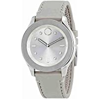 Movado Bold Silver Dial Grey Silicone Women's Watch