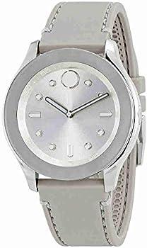 Movado Bold Silver Dial Grey Silicone Women's Watch