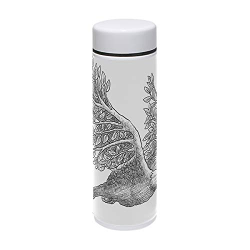 Steel Eagles Thermos Stainless (DEYYA Eagle Thermos Cup Stainless Steel Tumbler Vacuum Insulated Double Wall Travel Cup, 7.5 oz)